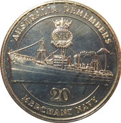 20 Cents - Elizabeth II (Merchant Navy) -  reverse