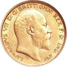 ½ Sovereign - Edward VII – obverse