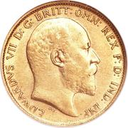 ½ Sovereign - Edward VII – obverse
