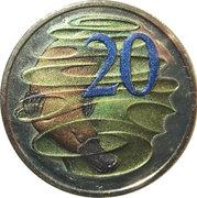 20 Cents - Elizabeth II (Hyper-metallic) -  reverse