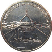 20 Cents - Elizabeth II (25th Anniversary of Parliament House) -  reverse