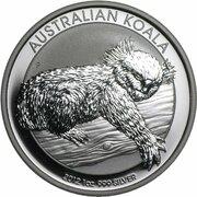 1 Dollar - Elizabeth II (4th Portrait - Koala Silver Bullion Coin) -  reverse