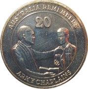 20 Cents - Elizabeth II (Army Chaplains) -  reverse