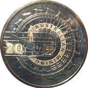 20 Cents - Elizabeth II (Australian Mining) -  reverse