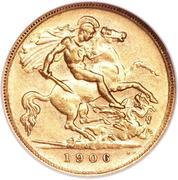 ½ Sovereign - Edward VII – reverse