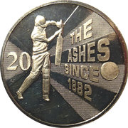 20 Cents - Elizabeth II (Ashes Cricket Since 1882) -  reverse