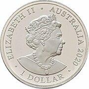 1 Dollar - Elizabeth II (6th Portrait - Kangaroos at Dawn) -  obverse