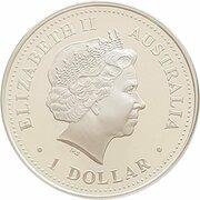 1 Dollar - Elizabeth II (4th Portrait - Queen Elizabeth II 80th Birthday) -  obverse