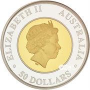 50 Dollars  - Elizabeth II (Australian Wedge-Tailed Eagle) -  obverse