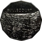 50 Cents - Elizabeth II (4th Portrait - Bullecourt) -  reverse