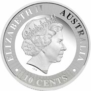 10 Cents - Elizabeth II (4th Portrait - Kangaroo - Silver Proof) – obverse