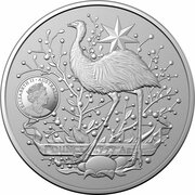 1 Dollar - Elizabeth II (6th Portrait - Australia's Coat of Arms- Silver Bullion Coin) – obverse