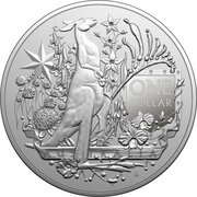 1 Dollar - Elizabeth II (6th Portrait - Australia's Coat of Arms- Silver Bullion Coin) – reverse