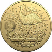 100 Dollars - Elizabeth II (6th Portrait - Australia's Coat of Arms- Gold Bullion Coin) – obverse