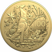 100 Dollars - Elizabeth II (6th Portrait - Australia's Coat of Arms- Gold Bullion Coin) – reverse