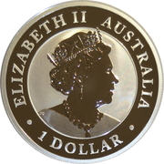 1 Dollar - Elizabeth II (6th Portrait - Australian Kookaburra - Coloured) – obverse