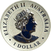 1 Dollar - Elizabeth II (6th Portrait - Australian Wedge-Tailed Eagle - Proof High Relief) – obverse
