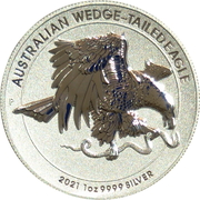 1 Dollar - Elizabeth II (6th Portrait - Australian Wedge-Tailed Eagle - Proof High Relief) – reverse