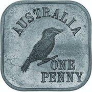 1 Penny - George V (Kookaburra Pattern - Type 5a) – reverse