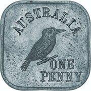 1 Penny - George V (Kookaburra Pattern - Type 4a) – reverse
