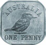 1 Penny - George V (Kookaburra Pattern - Type 12a (Renniks 11a)) -  reverse