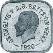 ½ Penny - George V (Kookaburra Pattern - Type 1, Silver) -  obverse