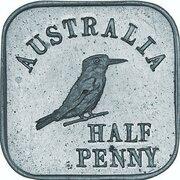 ½ Penny - George V (Kookaburra Pattern - Type 1, Silver) -  reverse