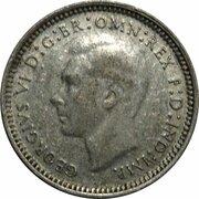 3 Pence - George VI – obverse