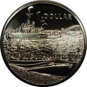 1 Dollar - Elizabeth II (Sydney Harbour) -  reverse