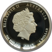 1 Dollar - Elizabeth II (4th Portrait - Dragon & Phoenix - Proof High Relief Silver Proof) – obverse