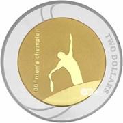 2 Dollars  - Elizabeth II (Australian Open) -  reverse