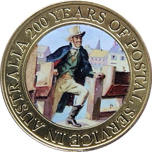 1 Dollar Elizabeth Ii 200 Years Of Postal Services In Australia Numista