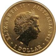 1 Dollar - Elizabeth II (2012 Australian Olympic Team - Olympic Spirit) -  obverse