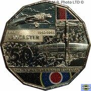 50 Cents - Elizabeth II (6th Portrait - 100 Years RAAF - AVRO Lancaster) -  reverse