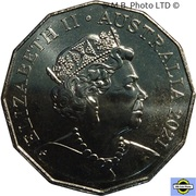 50 Cents - Elizabeth II (6th Portrait - 100 Years RAAF - Bell Iroquois Helicopter) -  obverse
