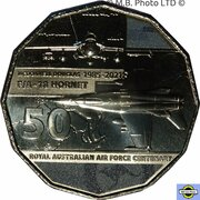 50 Cents - Elizabeth II (6th Portrait - 100 Years RAAF - McDonnell Douglas F/A-18 Hornet) -  reverse
