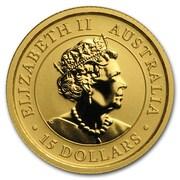 15 Dollars - Elizabeth II (6th Portrait - Kangaroo - Gold Bullion Coin) -  obverse
