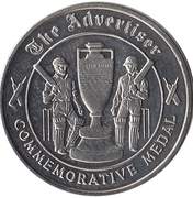 Commemorative Medal - The Advertiser (The Ashes) – reverse