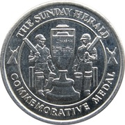 Commemorative Medal - The Sunday Herald (The Ashes) – reverse