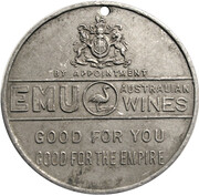Medal - George V & Mary Silver Jubilee (Emu wines, South Australia) – reverse