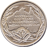 Australia 200 Years Medal Collection (Captain James Cook) -  reverse