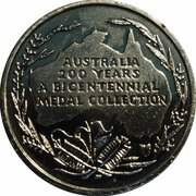 Australia 200 Years Medal Collection (Australian Rules Football) -  reverse