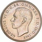 1 Crown - George VI (Coronation) – obverse