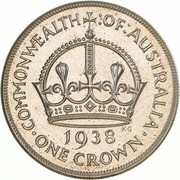 1 Crown - George VI (Coronation) -  reverse