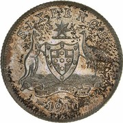 6 Pence - Edward VII – reverse