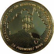 Token - Introduction of Decimal Currency (Silver Jubilee) – obverse
