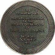 Token - Opening of the Sydney Opera House – reverse