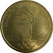 Token - Sydney 2000 Olympics Games Mascot - (ANDA Olly Kookaburra) – reverse