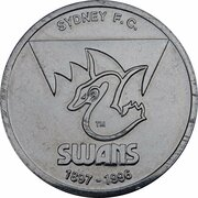 Token - Herald Sun AFL Centenary (Sydney Swans) – obverse