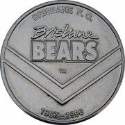 Token - Herald Sun AFL Centenary (Brisbane Bears) – obverse
